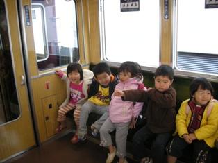 お楽しみの阪急電車に乗って
