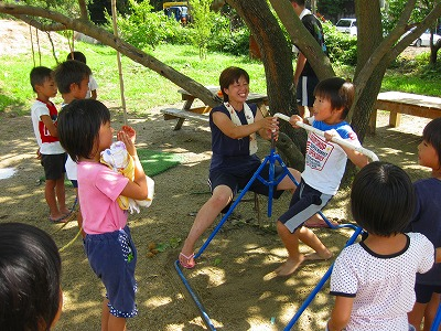 鉄棒の練習3