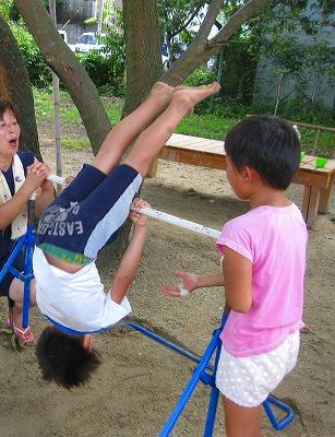 鉄棒の練習4